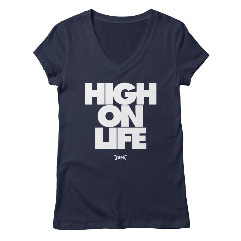 High On Life Women's Regular V-Neck by Lumi
