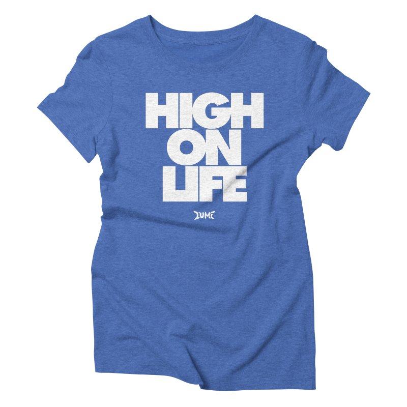 High On Life Women's Triblend T-shirt by Lumi