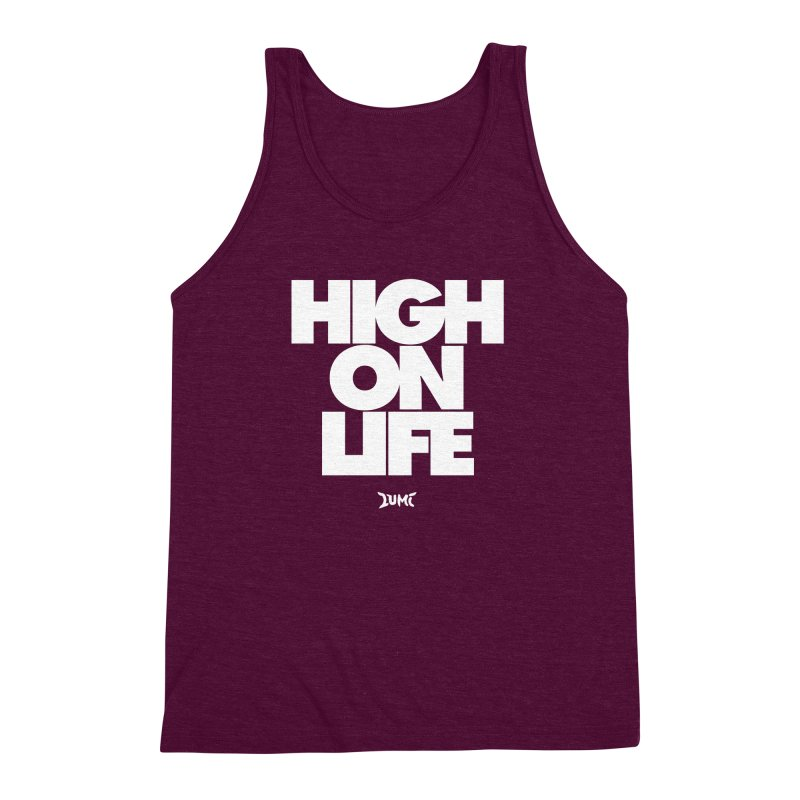 High On Life Men's Triblend Tank by Lumi