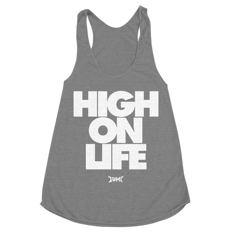 High On Life Women's Racerback Triblend Tank by Lumi