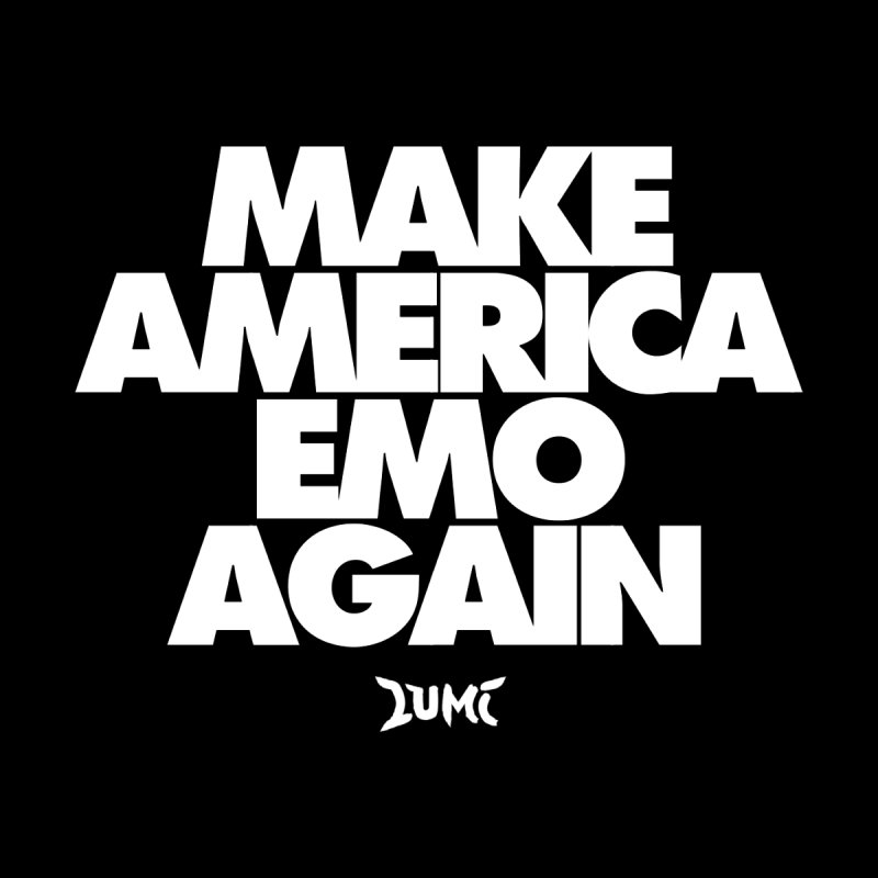 Make America Emo Again Men's Pullover Hoody by Lumi