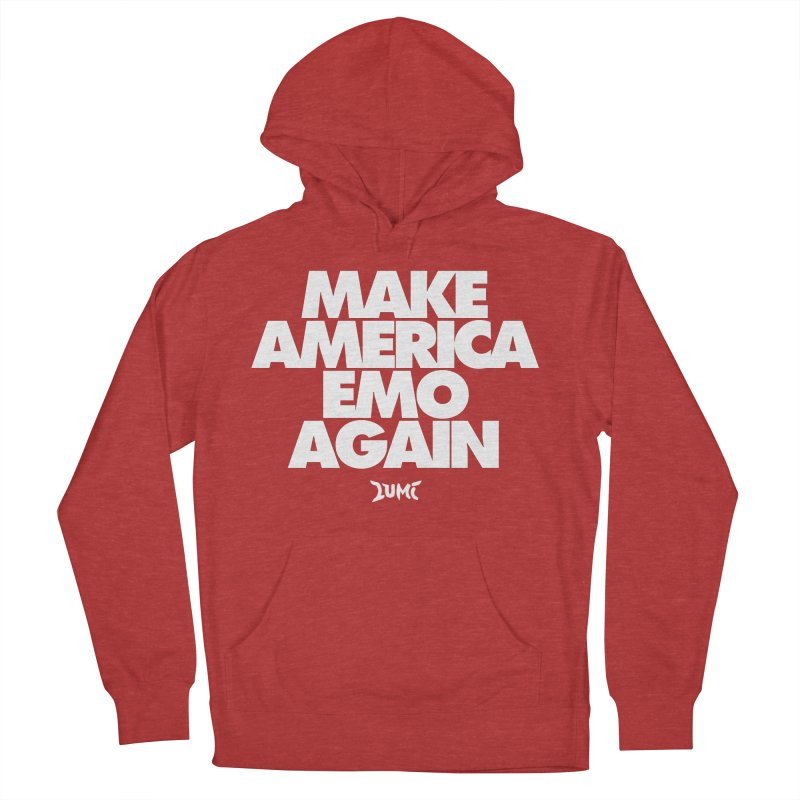 Make America Emo Again Women's French Terry Pullover Hoody by Lumi