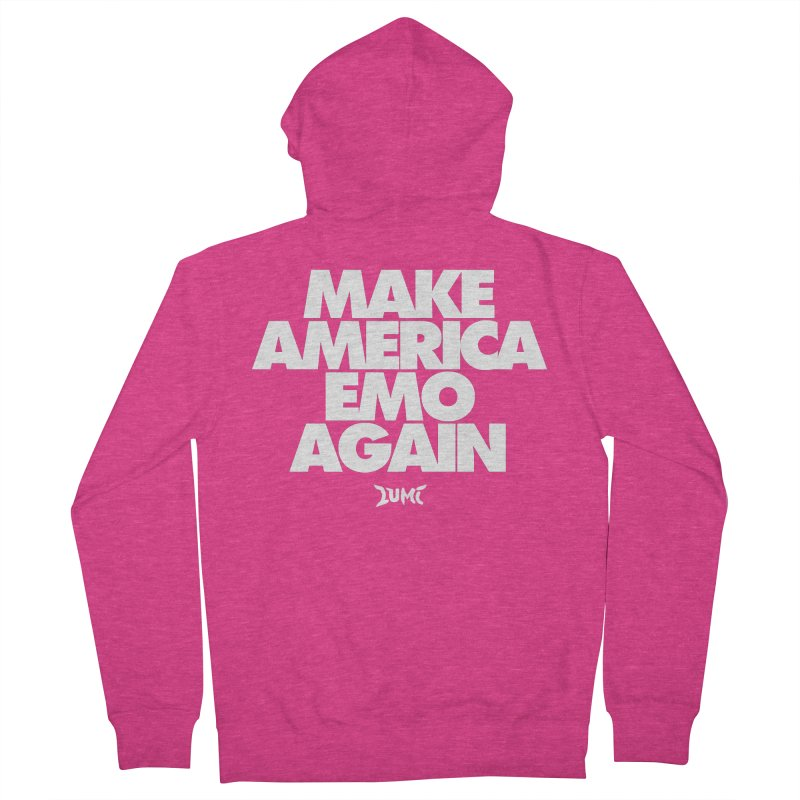 Make America Emo Again Women's French Terry Zip-Up Hoody by Lumi