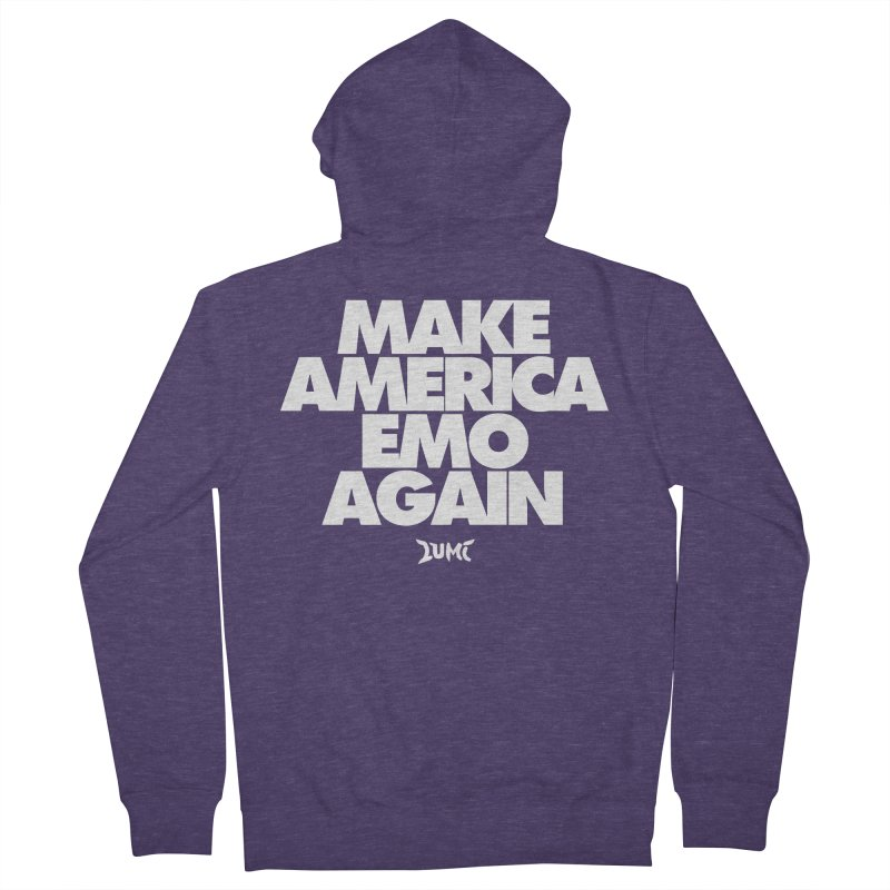 Make America Emo Again Men's French Terry Zip-Up Hoody by Lumi