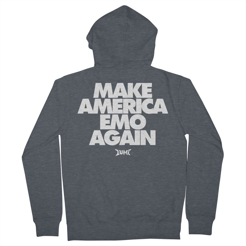 Make America Emo Again Men's Zip-Up Hoody by Lumi