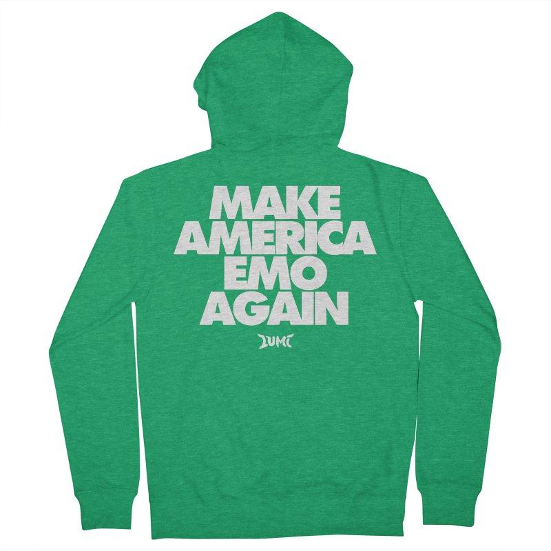 Make America Emo Again Men's Zip-Up Hoody by Lumi