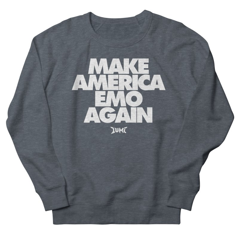 Make America Emo Again Men's French Terry Sweatshirt by Lumi