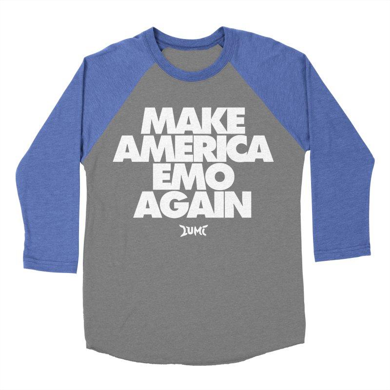 Make America Emo Again Men's Baseball Triblend Longsleeve T-Shirt by Lumi