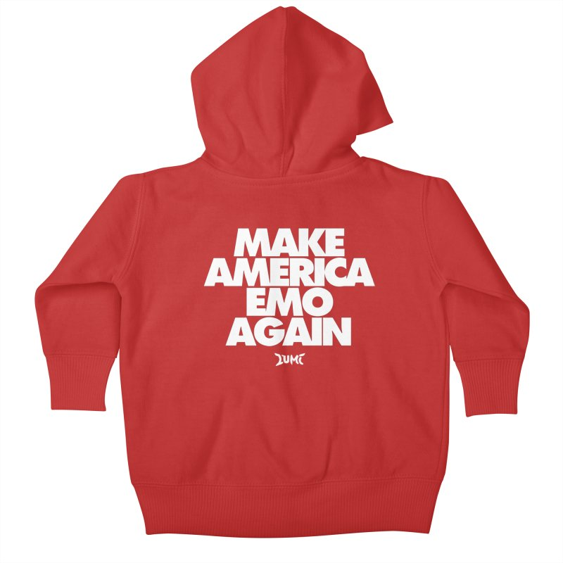 Make America Emo Again Kids Baby Zip-Up Hoody by Lumi