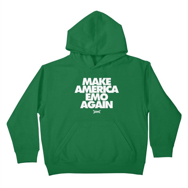 Make America Emo Again Kids Pullover Hoody by Lumi