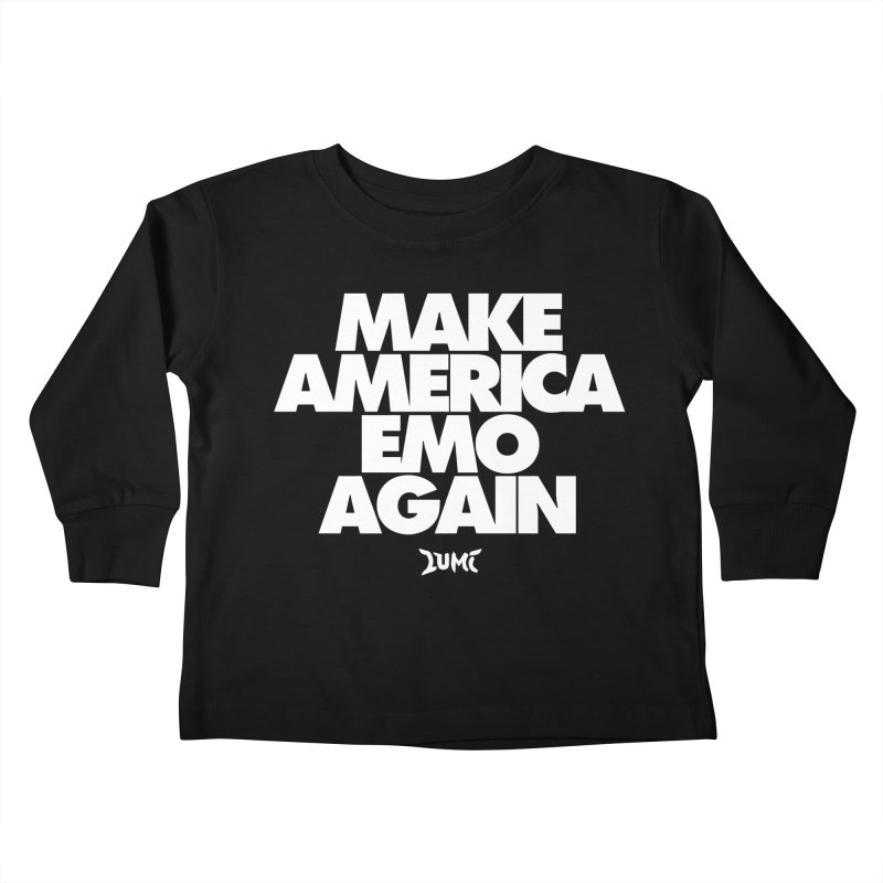 Make America Emo Again Kids Toddler Longsleeve T-Shirt by Lumi