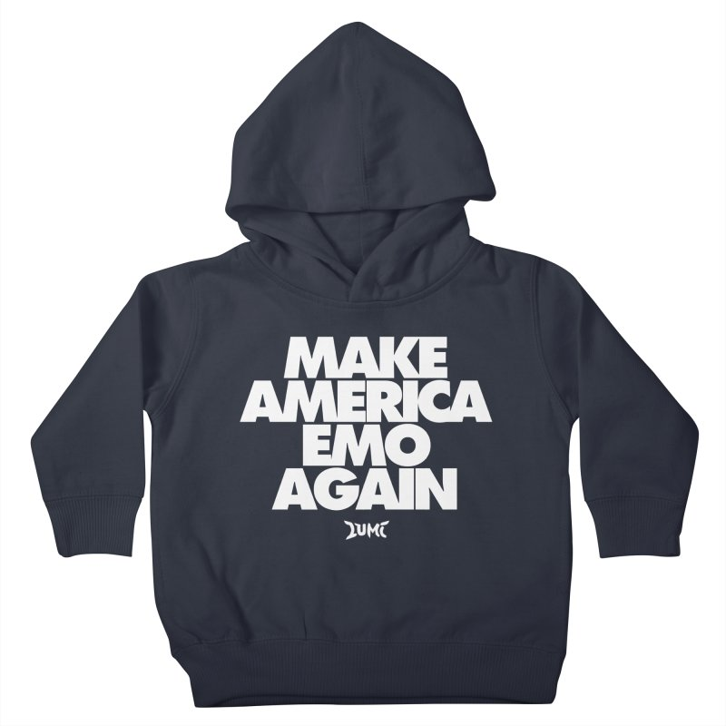 Make America Emo Again Kids Toddler Pullover Hoody by Lumi