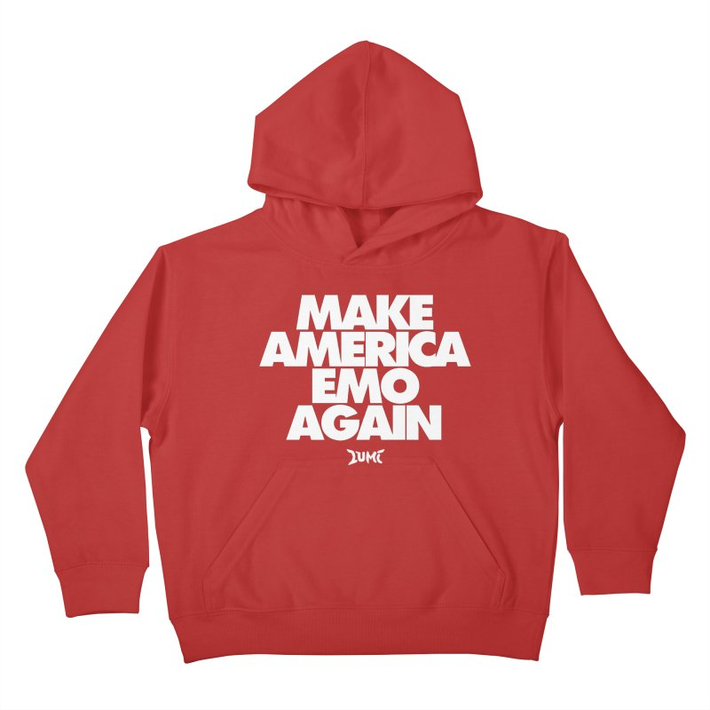 Make America Emo Again Kids Pullover Hoody by Lumi