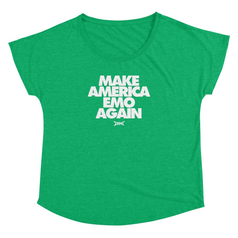 Make America Emo Again Women's Dolman Scoop Neck by Lumi