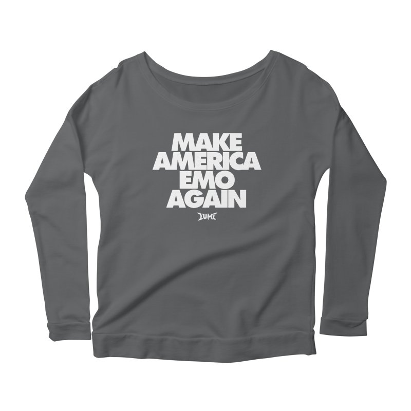Make America Emo Again Women's Scoop Neck Longsleeve T-Shirt by Lumi