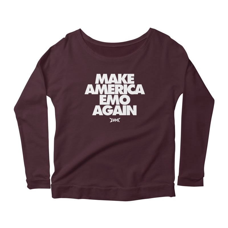 Make America Emo Again Women's Scoop Neck Longsleeve T-Shirt by Lumi