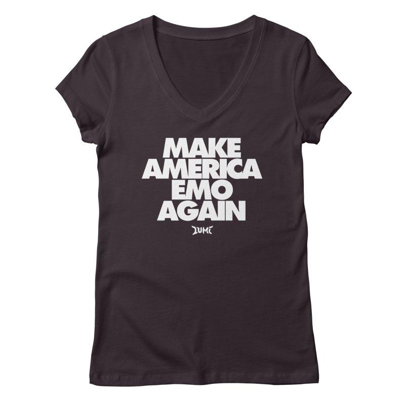 Make America Emo Again Women's V-Neck by Lumi