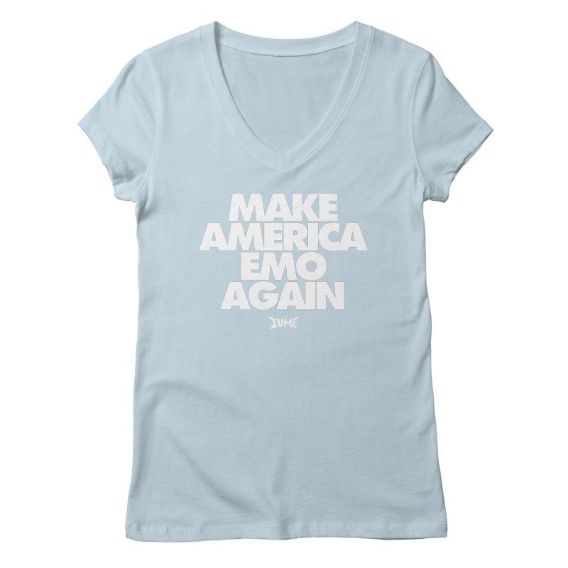 Make America Emo Again Women's Regular V-Neck by Lumi