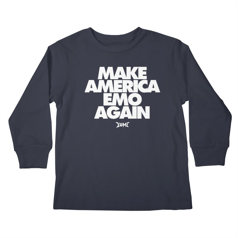 Make America Emo Again Kids Longsleeve T-Shirt by Lumi