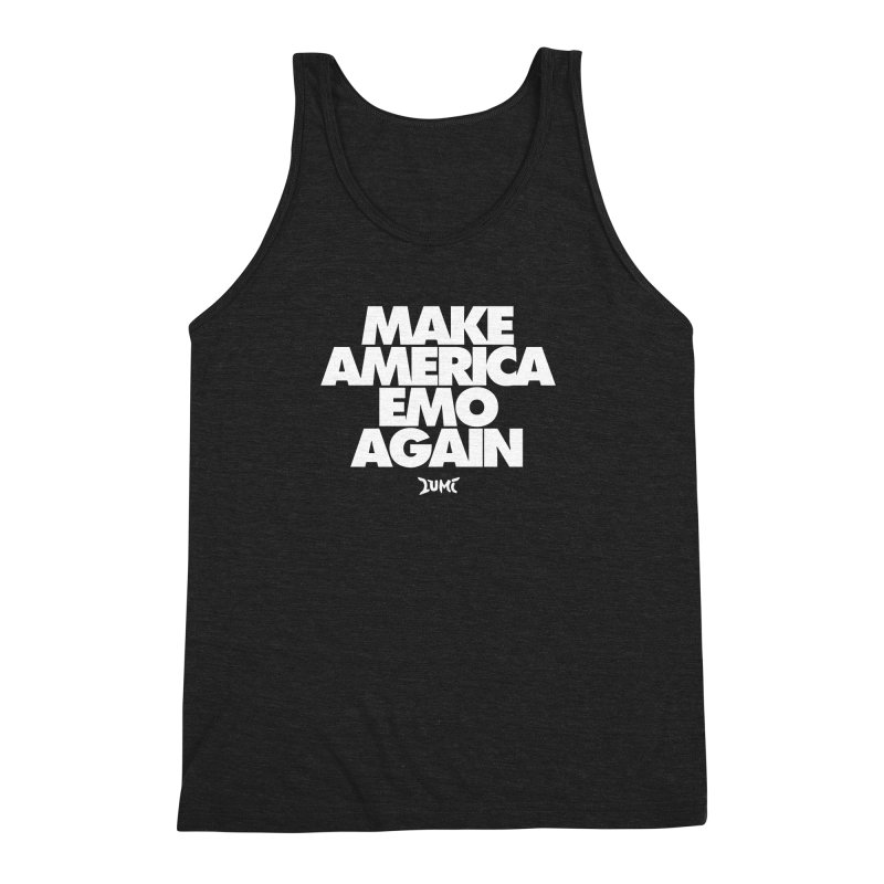 Make America Emo Again Men's Triblend Tank by Lumi