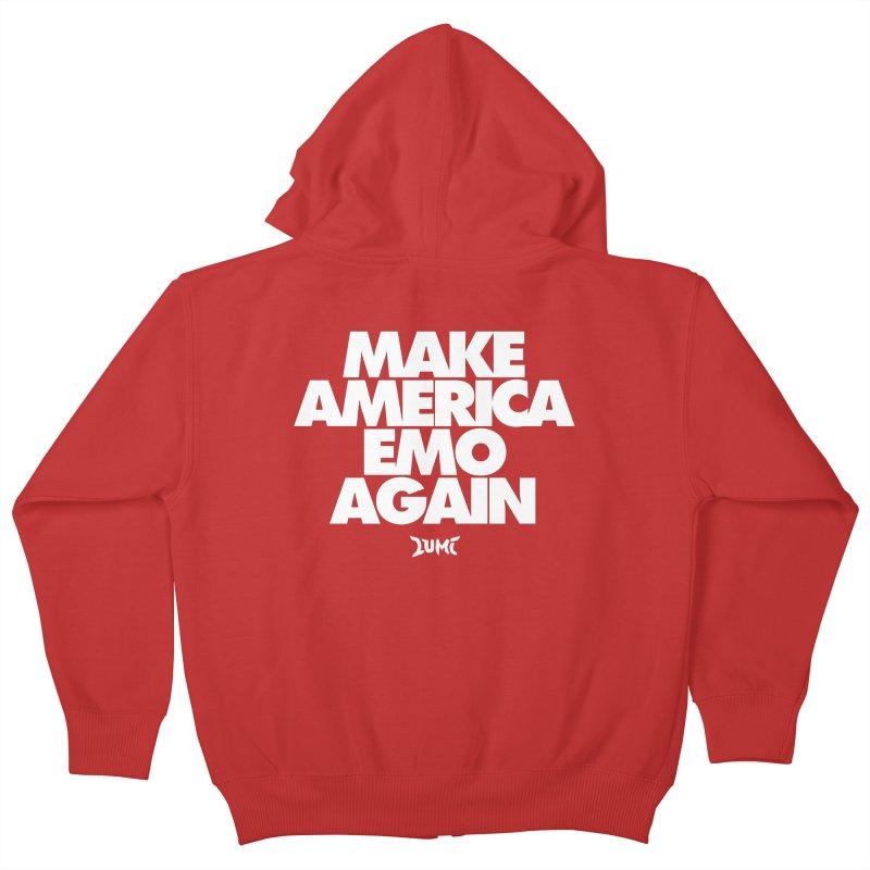 Make America Emo Again Kids Zip-Up Hoody by Lumi