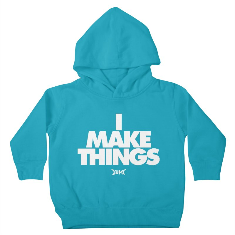 I Make Things Kids Toddler Pullover Hoody by Lumi