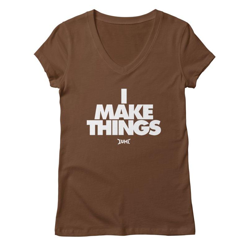 I Make Things Women's Regular V-Neck by Lumi