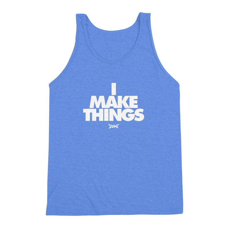 I Make Things Men's Triblend Tank by Lumi