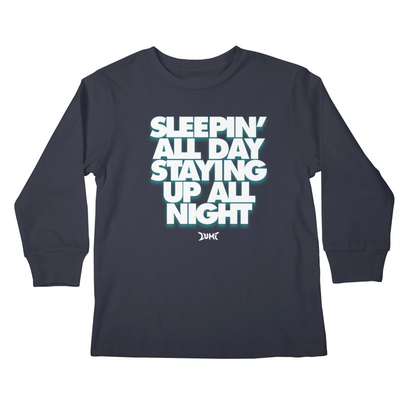 Ocean Avenue Lyrics Kids Longsleeve T-Shirt by Lumi
