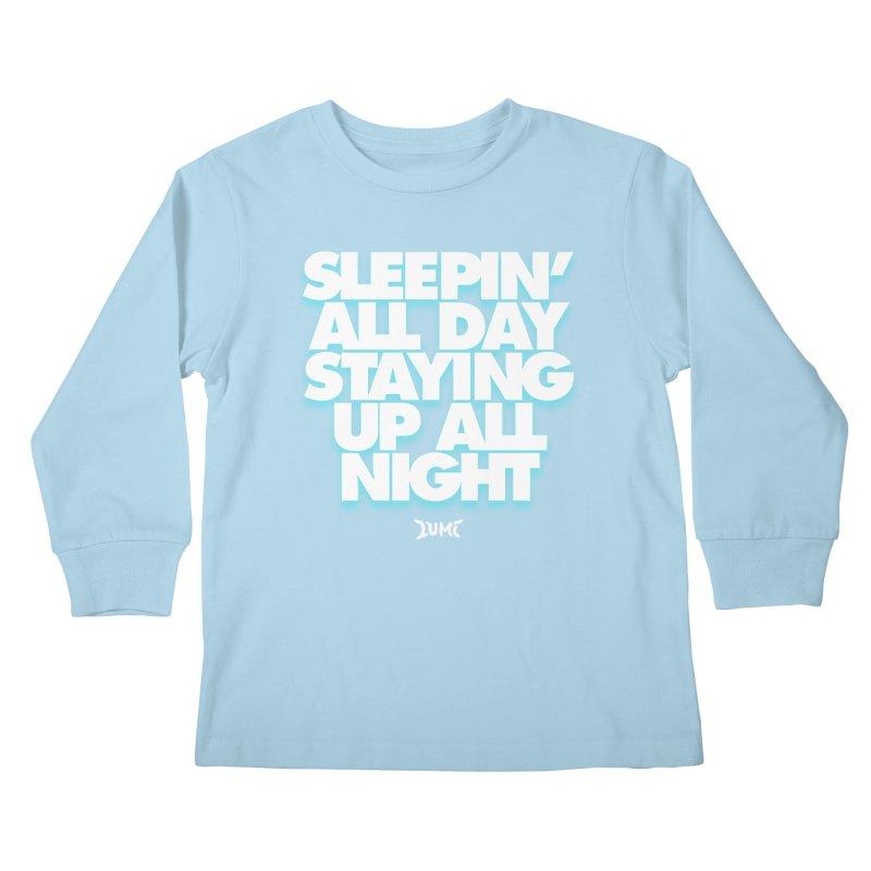 Ocean Avenue Lyrics Kids Longsleeve T-Shirt by Lumi