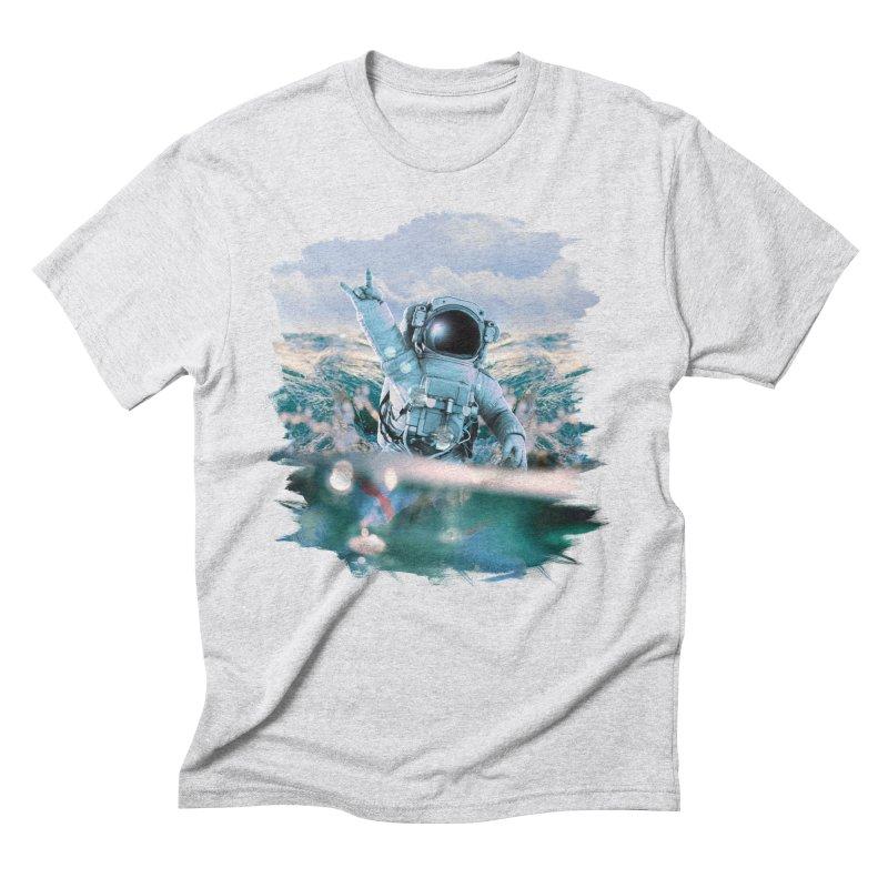 Astronautical Men's Triblend T-Shirt by Lumi
