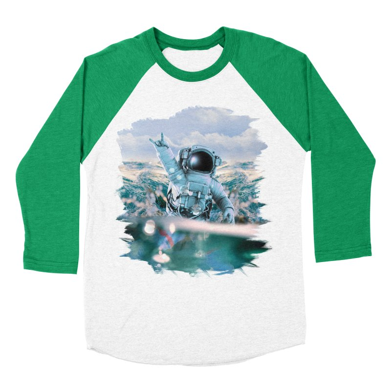 Astronautical Women's Baseball Triblend Longsleeve T-Shirt by Lumi