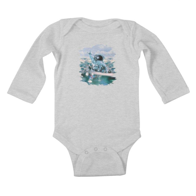 Astronautical Kids Baby Longsleeve Bodysuit by Lumi