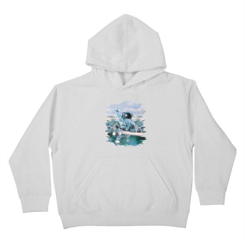 Astronautical Kids Pullover Hoody by Lumi