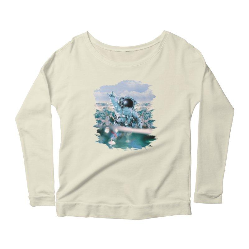 Astronautical Women's Scoop Neck Longsleeve T-Shirt by Lumi