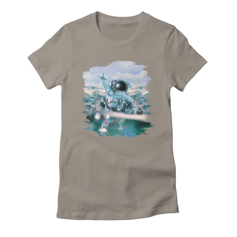 Astronautical Women's Fitted T-Shirt by Lumi