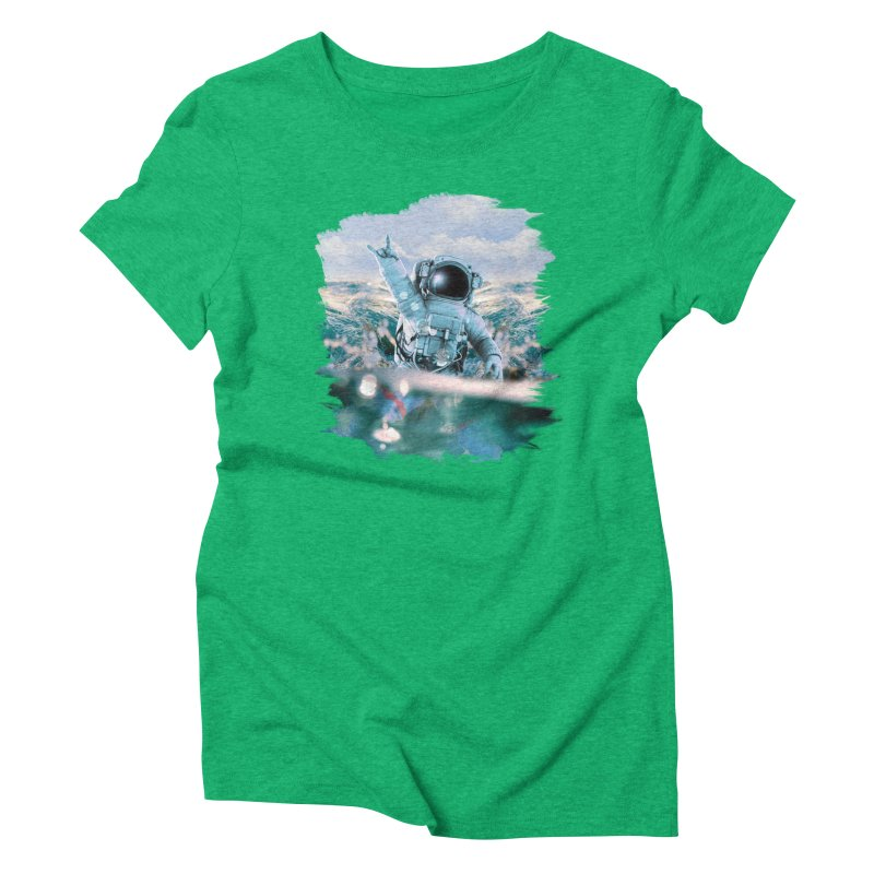 Astronautical Women's Triblend T-Shirt by Lumi