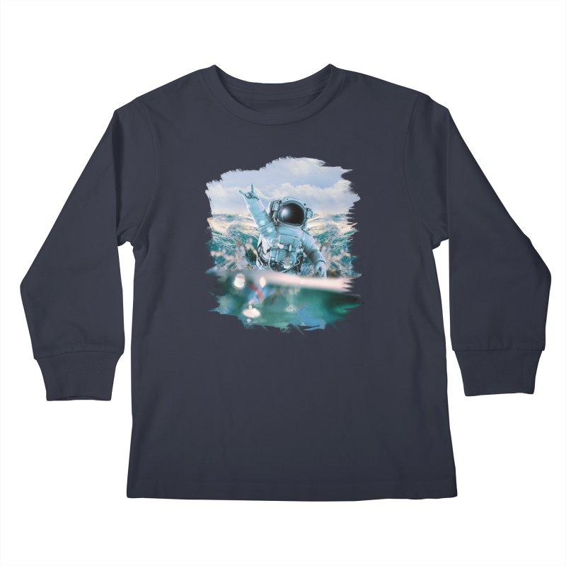 Astronautical Kids Longsleeve T-Shirt by Lumi