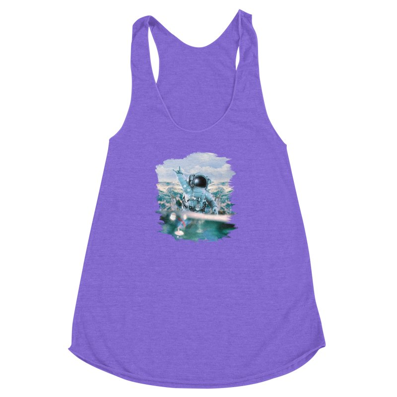 Astronautical Women's Racerback Triblend Tank by Lumi
