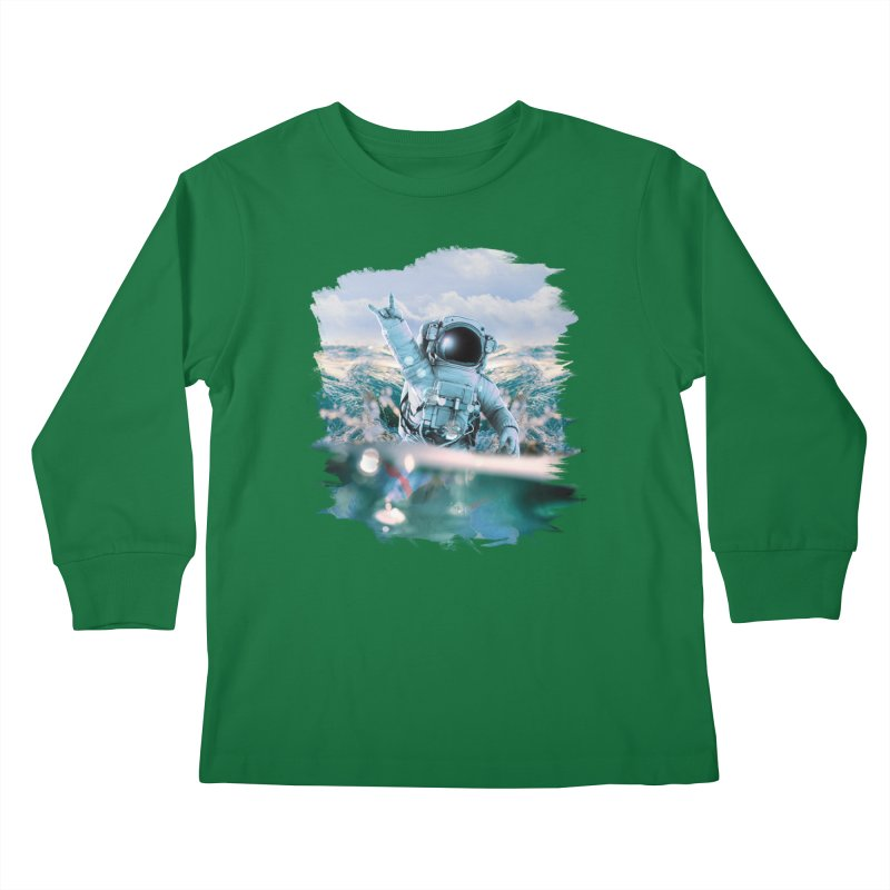 Astronautical Kids Longsleeve T-Shirt by Lumi