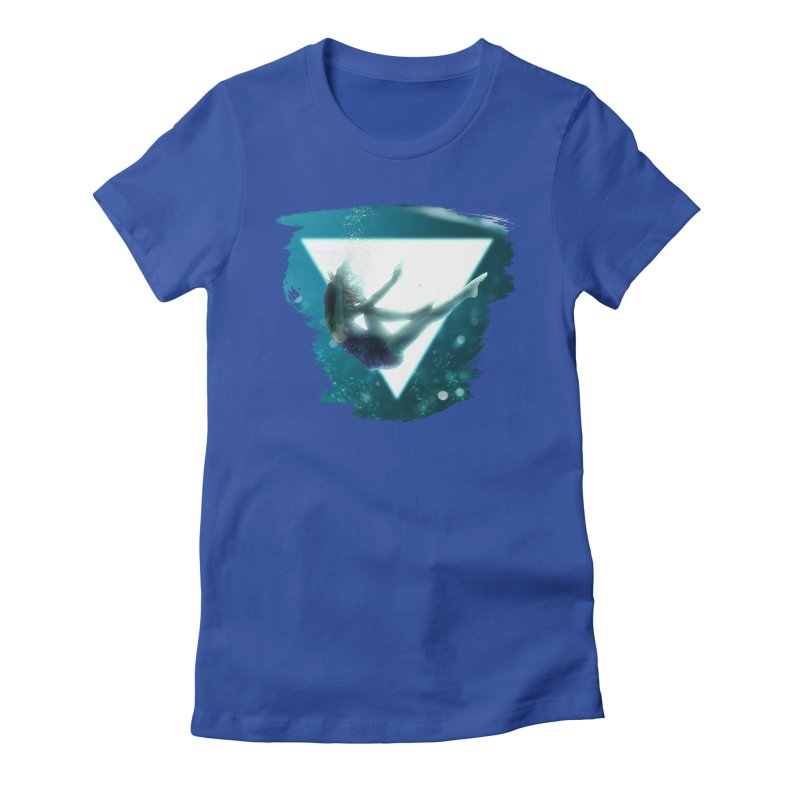 Falling Under Women's Fitted T-Shirt by Lumi