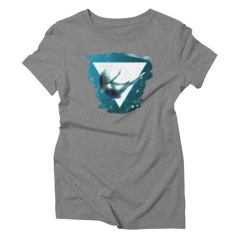 Falling Under Women's Triblend T-shirt by Lumi