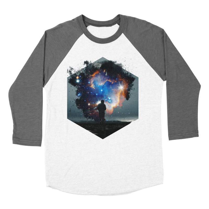 Cosmia Men's Baseball Triblend Longsleeve T-Shirt by Lumi