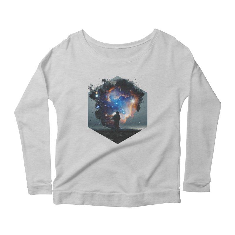 Cosmia Women's Scoop Neck Longsleeve T-Shirt by Lumi
