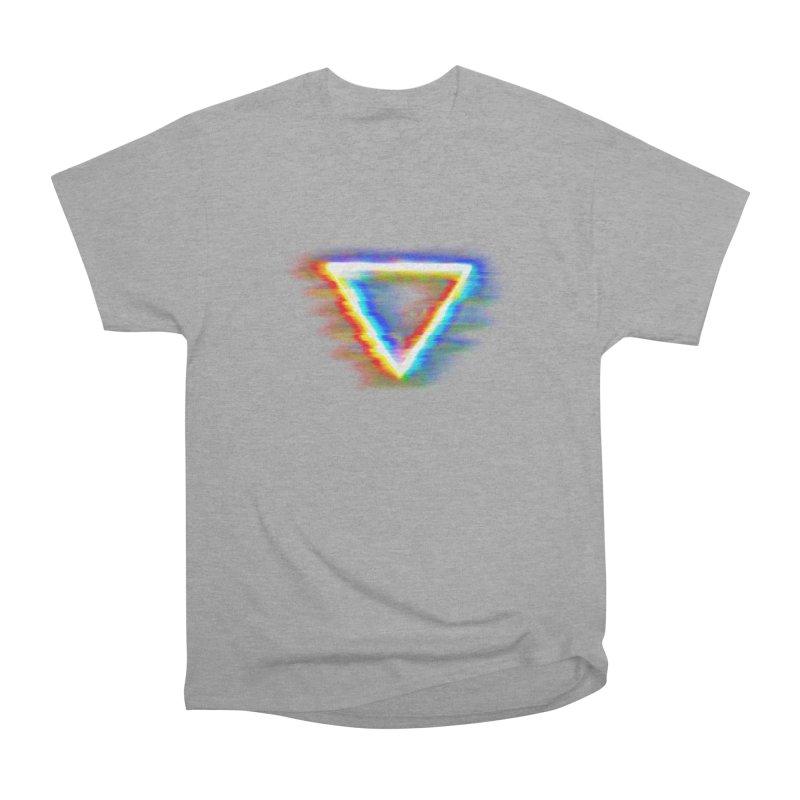 Tri (Digital Distortion) Men's Heavyweight T-Shirt by Lumi