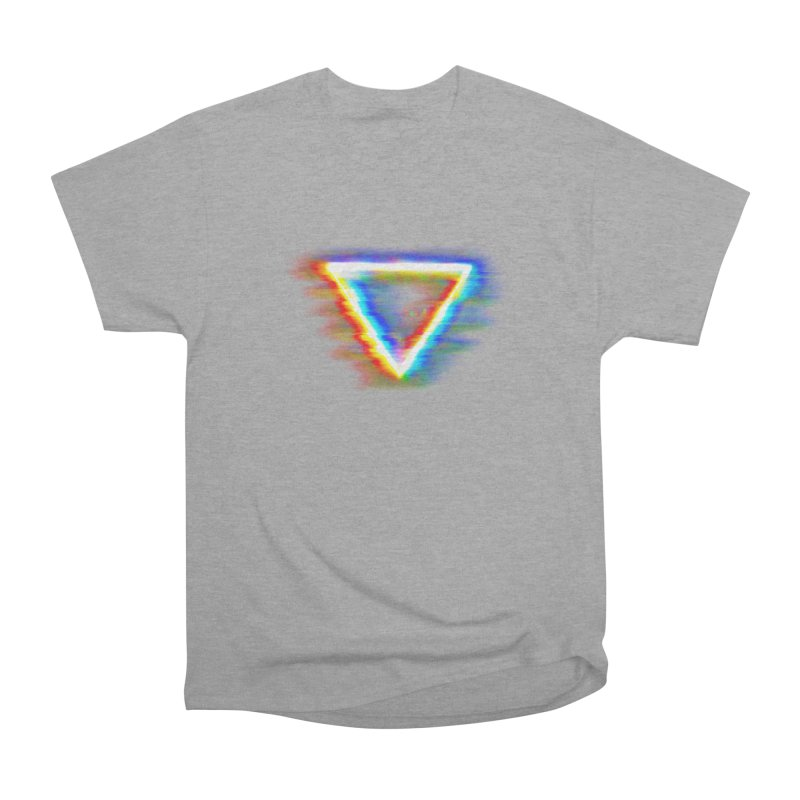 Tri (Digital Distortion) Women's Heavyweight Unisex T-Shirt by Lumi