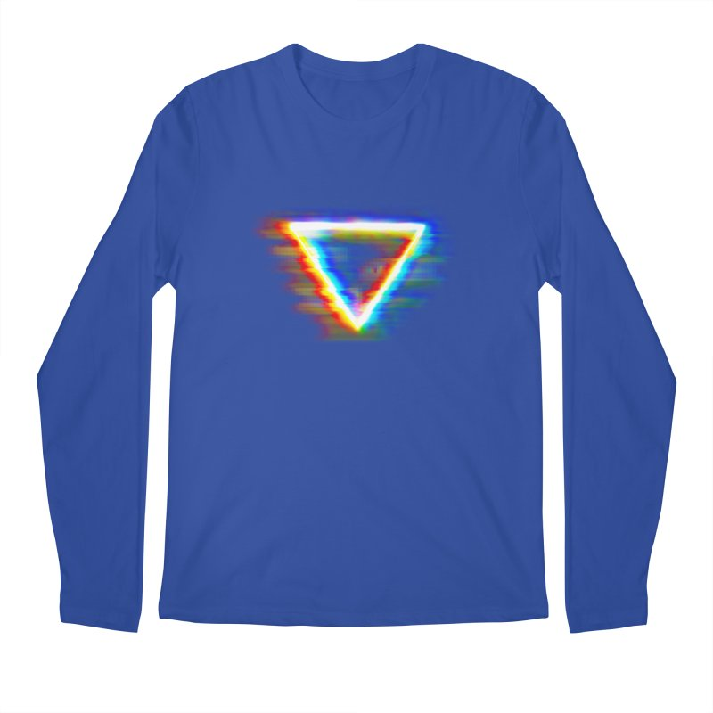 Tri (Digital Distortion) Men's Longsleeve T-Shirt by Lumi