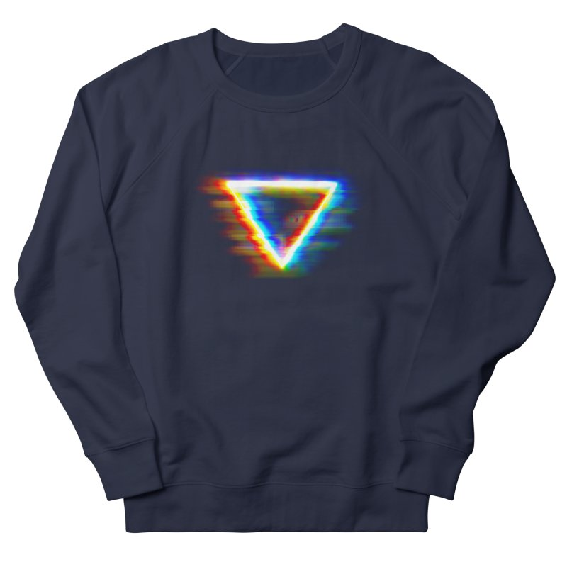 Tri (Digital Distortion) Men's French Terry Sweatshirt by Lumi