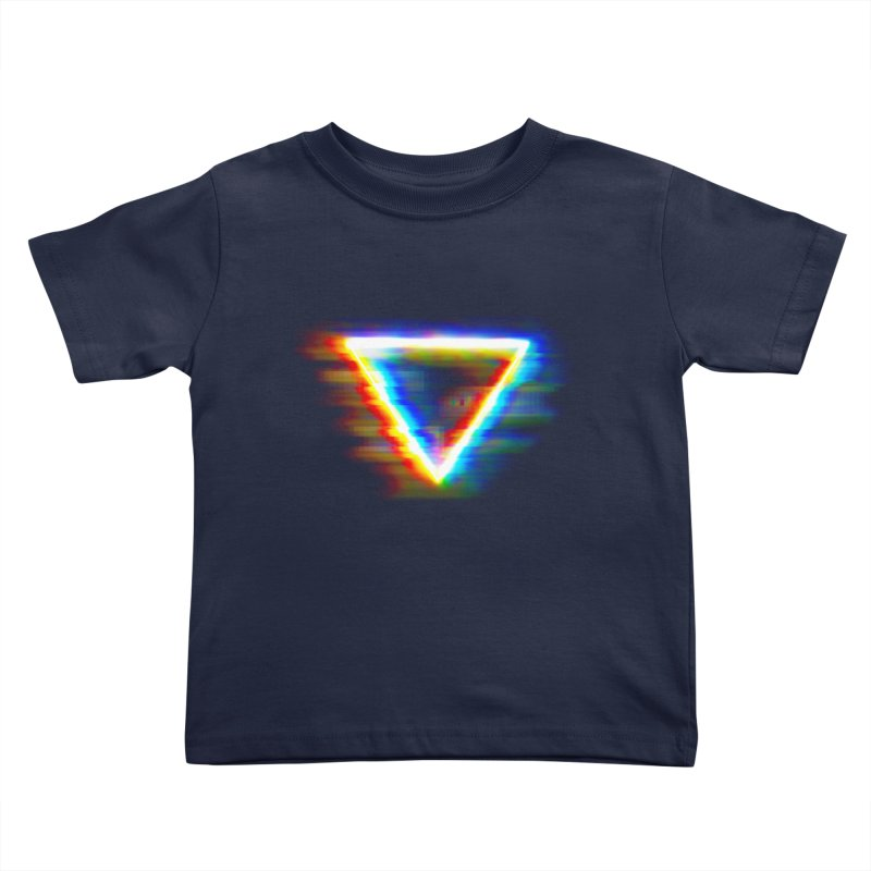 Tri (Digital Distortion) Kids Toddler T-Shirt by Lumi
