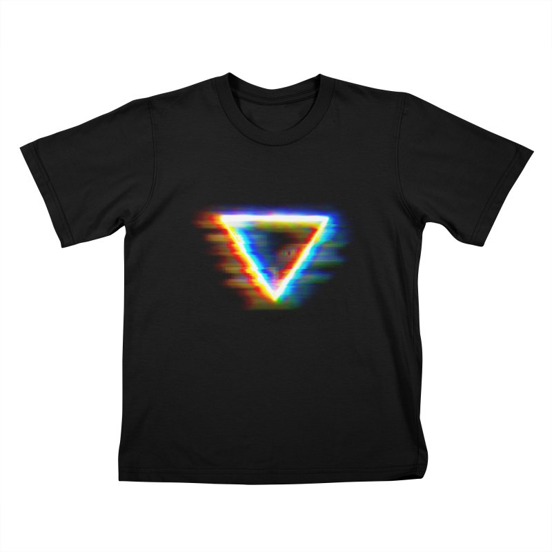 Tri (Digital Distortion) Kids T-shirt by Lumi